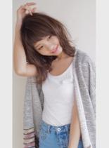 ナチュラルミディアム♡(髪型ミディアム)