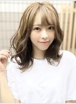40代人気♪艶髪カラー(髪型ミディアム)