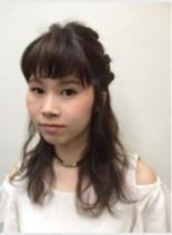 ダークアッシュブラウン(髪型ミディアム)