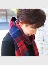 秋色インナーカラー(髪型ショートヘア)