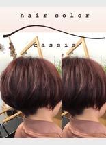 ショートヘア×カシス(髪型ショートヘア)