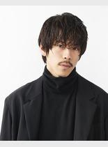 ナチュラルウェット(髪型メンズ)