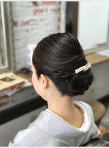 お着物に♪ネープシニヨン(髪型ロング)
