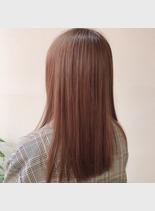 春色カラー(髪型セミロング)