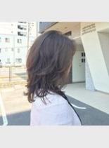 デジタルパーマ+カラー(髪型ミディアム)