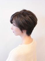ひし形ショートヘアー(髪型ショートヘア)
