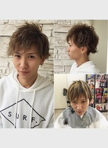 イメチェンメンズパーマ(髪型メンズ)