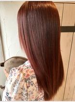 ディープピンク(髪型セミロング)