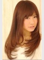 ナチュラルカールヘアー (髪型ロング)