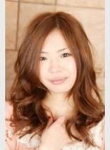 大人かわいい春ウェーブ(髪型ミディアム)