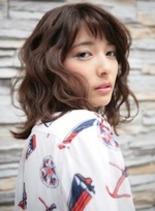 ROOTS 渋谷 美容室(髪型ミディアム)