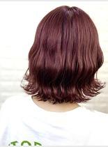 ブリーチ×ピンクカラー(髪型ショートヘア)