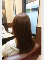 キラ髪の美髪縮毛矯正(髪型セミロング)