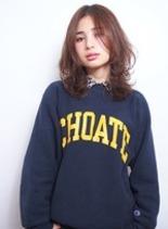 カジュアルレイヤー(髪型ミディアム)