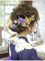 卒業式袴アレンジ(髪型セミロング)