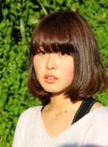 ミディボブ(髪型ミディアム)