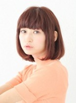 ピンクも人気☆(髪型ボブ)