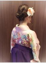 ☆卒業式☆袴 アップ(髪型ミディアム)