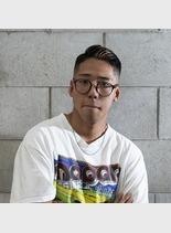 七三×ハイライト(髪型メンズ)