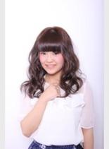 シフォンカール(髪型ロング)