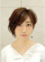 ふんわり小顔ショート(髪型ショートヘア)