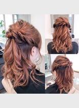 ヘアアレンジ(髪型ロング)