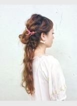 波巻きアレンジ(髪型ロング)