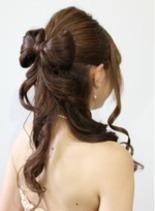 リボンアレンジヘア(髪型ロング)
