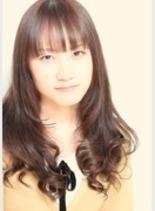 ツヤツヤデジタルパーマ(髪型ミディアム)