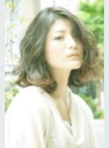 毛先巻きボブ(髪型ミディアム)