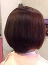 カットカラー縮毛矯正(髪型ショートヘア)