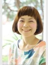 シフォンマッシュボブ(髪型ショートヘア)