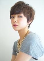 エアリーマッシュショート(髪型ショートヘア)