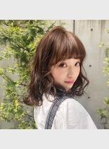 ゆるふわガーリー(髪型ミディアム)