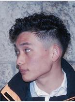 ショートハードパーマ(髪型メンズ)