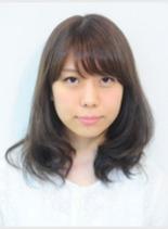 ナチュラルデジタルパーマ(髪型ロング)