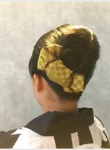 お祭りアップ(髪型ロング)
