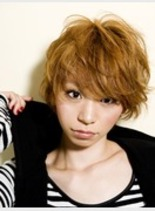 ショートボブパーマ(髪型ショートヘア)