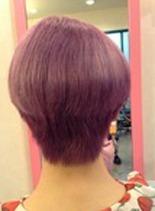 ダブルカラーショート(髪型ショートヘア)
