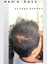 ショートヘア×白髪ぼかし(髪型メンズ)