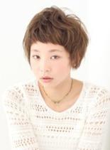 ショートバング(髪型ショートヘア)