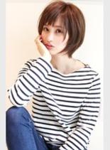 大人女性・カジュアル(髪型ショートヘア)