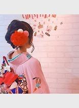 成人式アレンジヘアー(髪型ボブ)