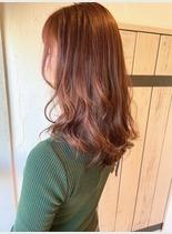 コーラルピンク(髪型セミロング)