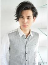 黒髪ムーブショート(髪型メンズ)