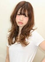 ブルブロングスタイル(髪型ミディアム)