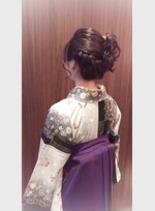 ☆卒業式☆袴 編み込み (髪型ロング)