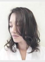 アメジストアッシュ♪(髪型ミディアム)