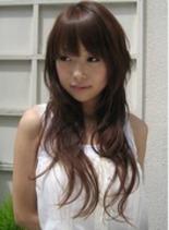 極ゆるアクセントパーマ(髪型ロング)