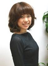 ミディアムパーマスタイル(髪型ミディアム)